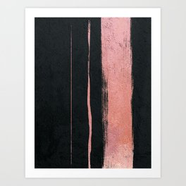 Rose Gold Cement Abstract Art Print