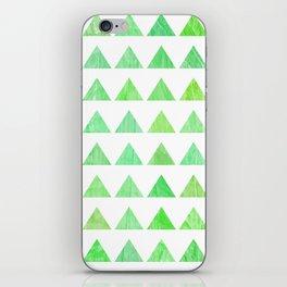 evergreen geometric pattern iPhone Skin
