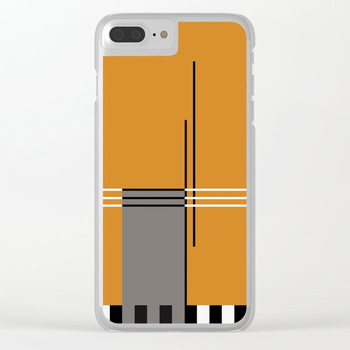 ABSTRACT IN ORANGE Clear iPhone Case
