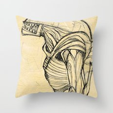 ALIEN3 SKETCH Throw Pillow