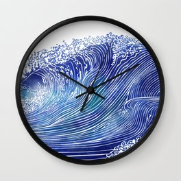 Pacific Waves Wall Clock