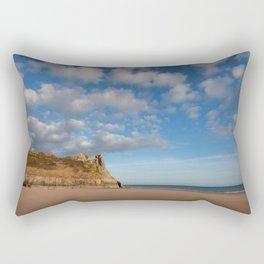 The Great Tor on the Gower peninsular Rectangular Pillow