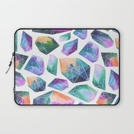 Geometric Crystals Amethyst Geode Pattern 1 Laptop Sleeve