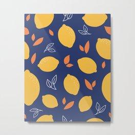 Lemon Summer Metal Print