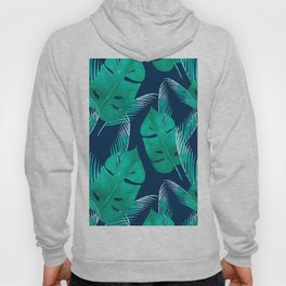 TROPICAL PATTERN BANANA LEAVES WATERCOLOR Hoody