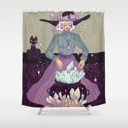 Crystal Witch Shower Curtain