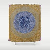 grace Shower Curtains featuring Grace by Leah Moloney