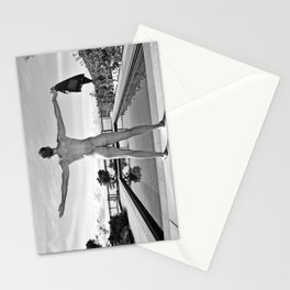 Freedom Swim Male Nude Stationery Cards