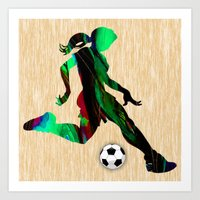 soccer Art Prints featuring Soccer by marvinblaine