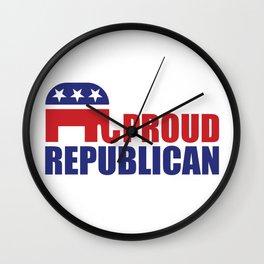 Proud Republican Elephant Design Wall Clock