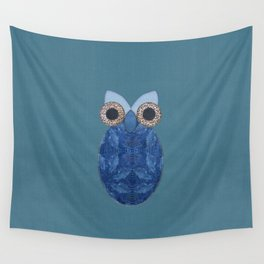 The Denim Owl #02 Wall Tapestry