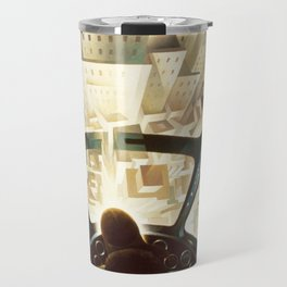 Nose Dive Into the City by T. Crali Travel Mug