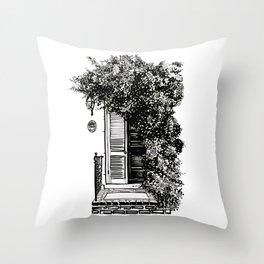 Old Town Door #1 Throw Pillow