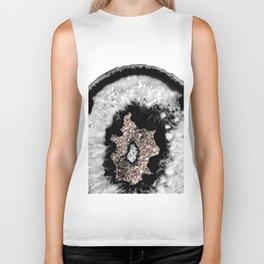 Gray Black White Agate Glitter Glamor #5 #gem #decor #art #society6 Biker Tank