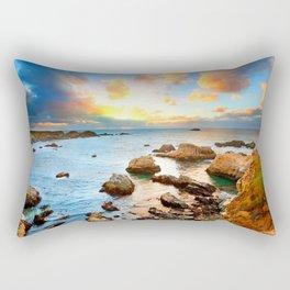 European Rock Beach Rectangular Pillow