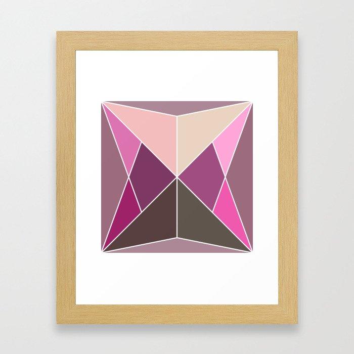 Mosaic tile Framed Art Print