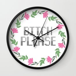 Sassy Cross Stitch Wall Clock