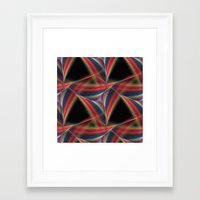 triangles Framed Art Prints featuring Triangles by David Zydd