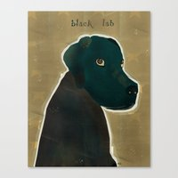 labrador Canvas Prints featuring labrador black  by bri.buckley