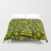 medieval Duvet Covers featuring Medieval Shield by markmurphycreative