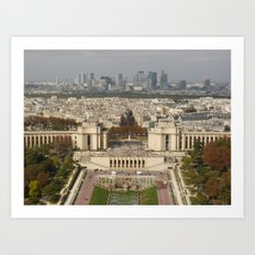 Aerial Paris Art Print