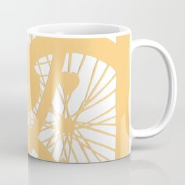 Bike wheels in yellow Coffee Mug
