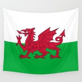 National flag of Wales - Authentic version Wall Tapestry