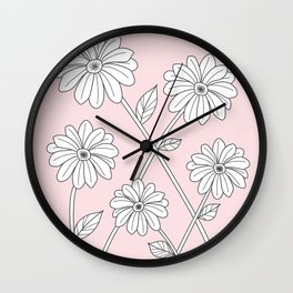 Flowers and vines #1 Wall Clock