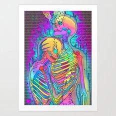 Skeleton Love 2 Art Print