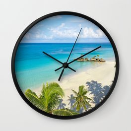 White Beach Morning, Boracay Island Wall Clock