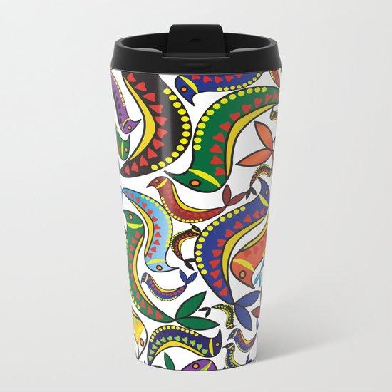 Pattern U Metal Travel Mug