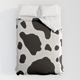 Black and White Cow Animal Pattern Print Comforters