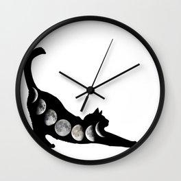 Moon Cat Wall Clock