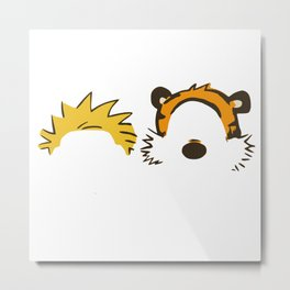 "Calvin And Hobbes ""Whats Your Reality"" Metal Print"