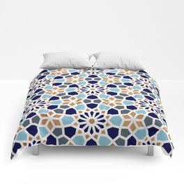 Persian Mosaic – Blue & Gold Palette Comforters