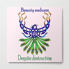 Beauty and Strength Metal Print