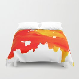 Reflections of the City Duvet Cover