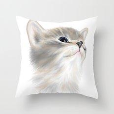 Kitten Throw Pillow