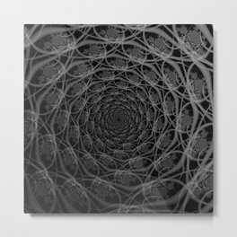 Galaxy of Filaments in Black and White Metal Print