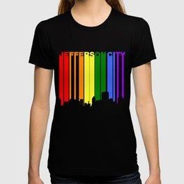 Jefferson City Missouri Gay Pride Skyline T-shirt