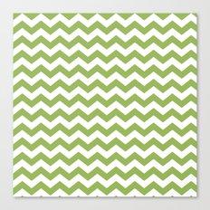 Greenery chevron Canvas Print