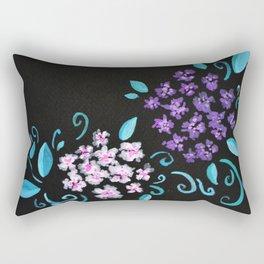 Floral Bunches Rectangular Pillow