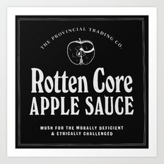 Rotten Core Apple Sauce Art Print
