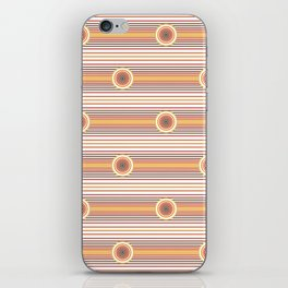 Concentric Circles and Stripes in Fall Colors iPhone Skin
