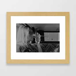 Women and wine Framed Art Print
