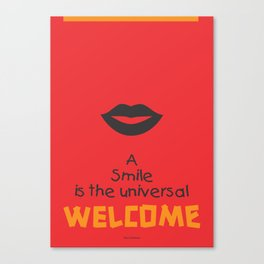 Lab No. 4 - Smile Quotes Typography Poster Canvas Print