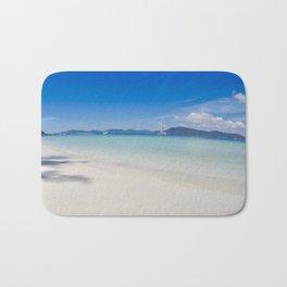 Clear blue ocean water in Thailand Bath Mat
