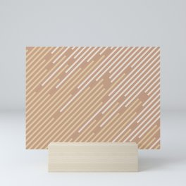 Sand Storm Beige Yellow Brown Off White Stripes 2021 Color of The Year Canyon Dusk Accent Shades Mini Art Print
