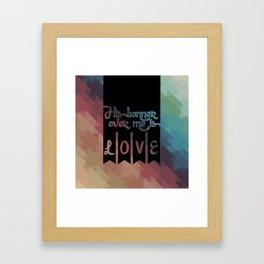 His Banner Framed Art Print