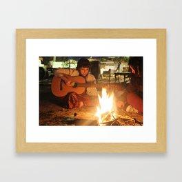 Fire Girl Framed Art Print